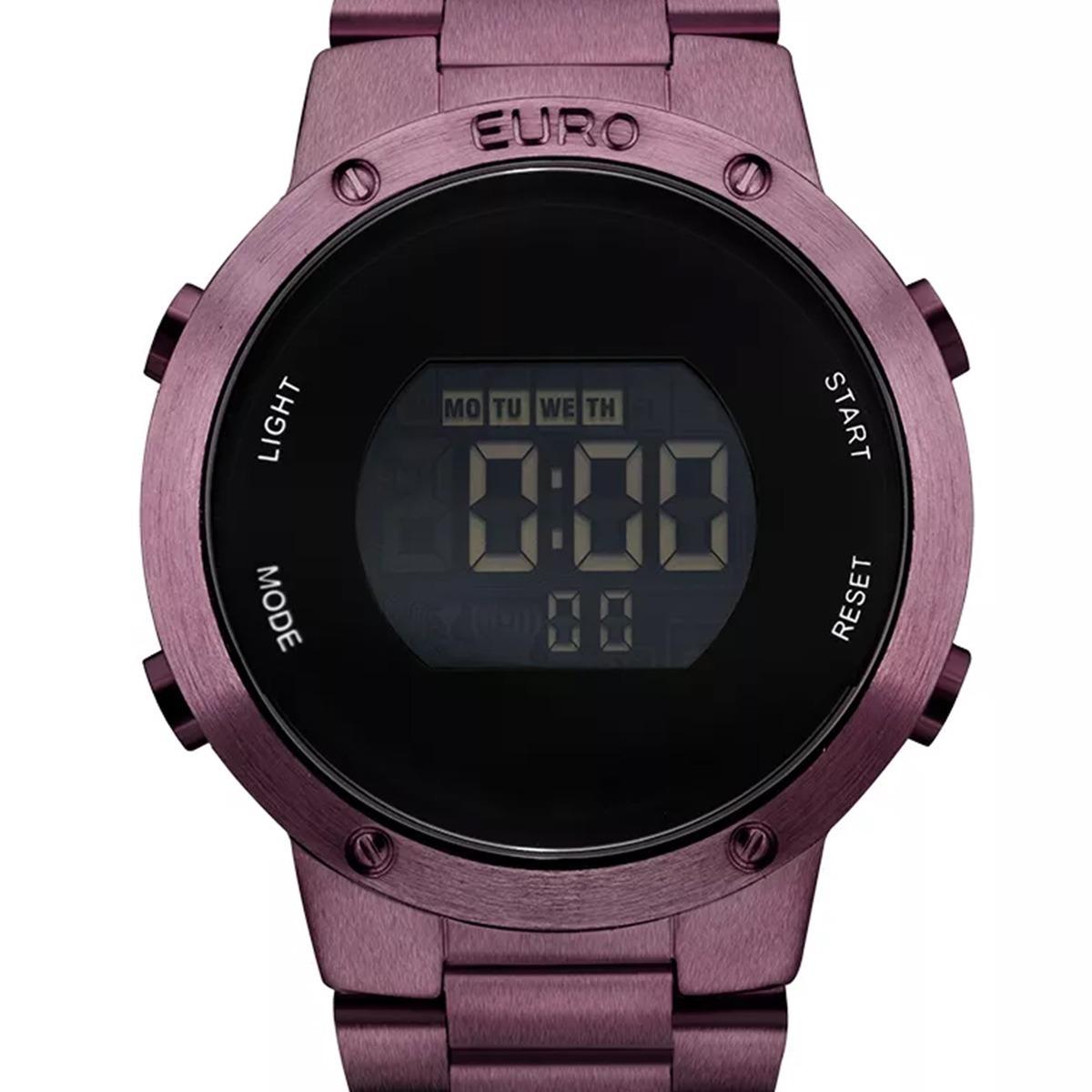 2733c0761f170 Relógio Euro Feminino Digital Roxo - Eubj3279ad 4t - R  279,00 em ...