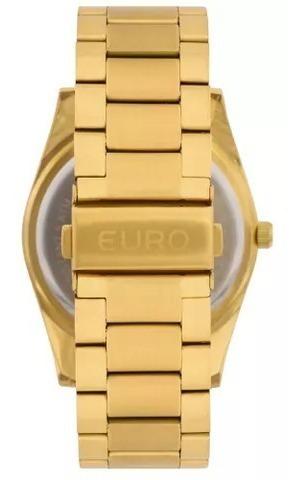 relógio euro feminino dourado - eu2036jg/4d