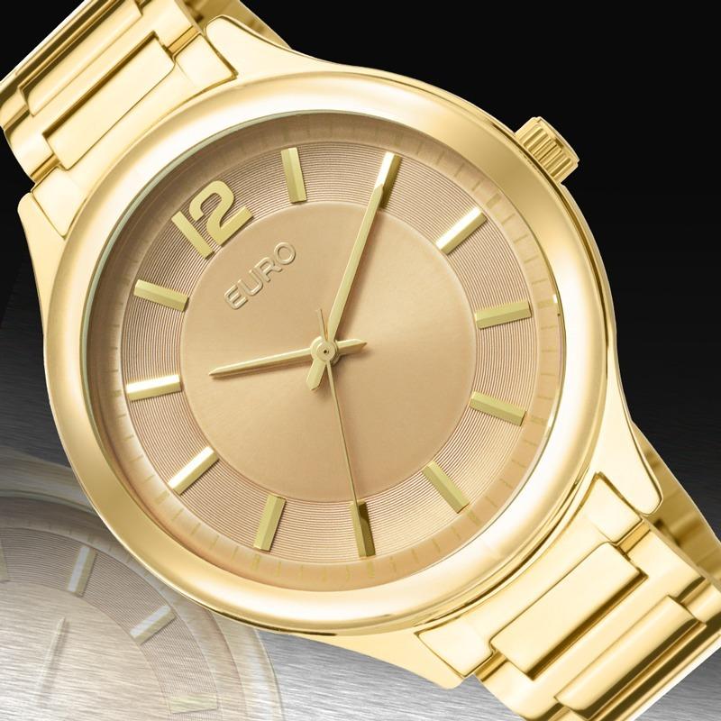 d8cd25640c7 relógio euro feminino dourado original promoção eu2035lqy 4m. Carregando  zoom.