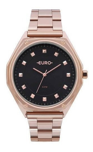 relogio euro feminino eu2035yoo/4p rose gold analogico