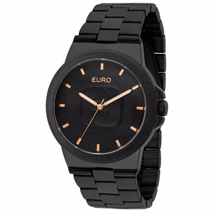 c4ce6039bb1 Relogio Euro Feminino Eu2036lzy 4p Preto Lançamento - R  289