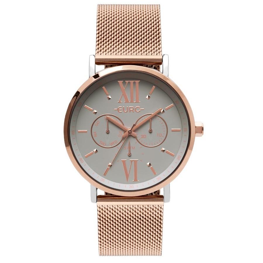 57342469eeec6 Relógio Euro Feminino Eu6p29aha 5k Rose Misto Analógico - R  265
