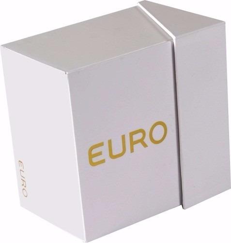relogio euro feminino eu6p29ahg/5p preto rose analogico