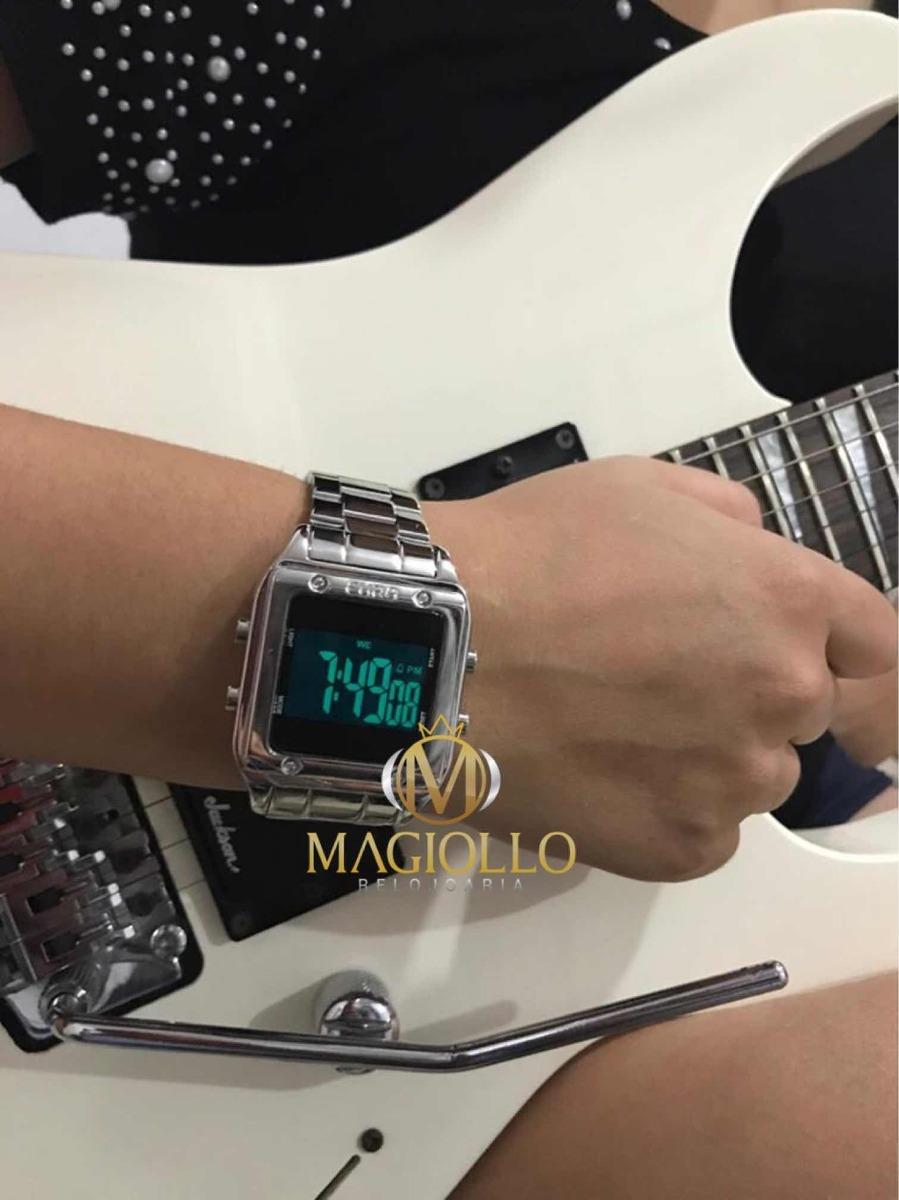 relógio euro feminino eug2510ab 3p prata digital quadrado. Carregando zoom. 6a694ca478