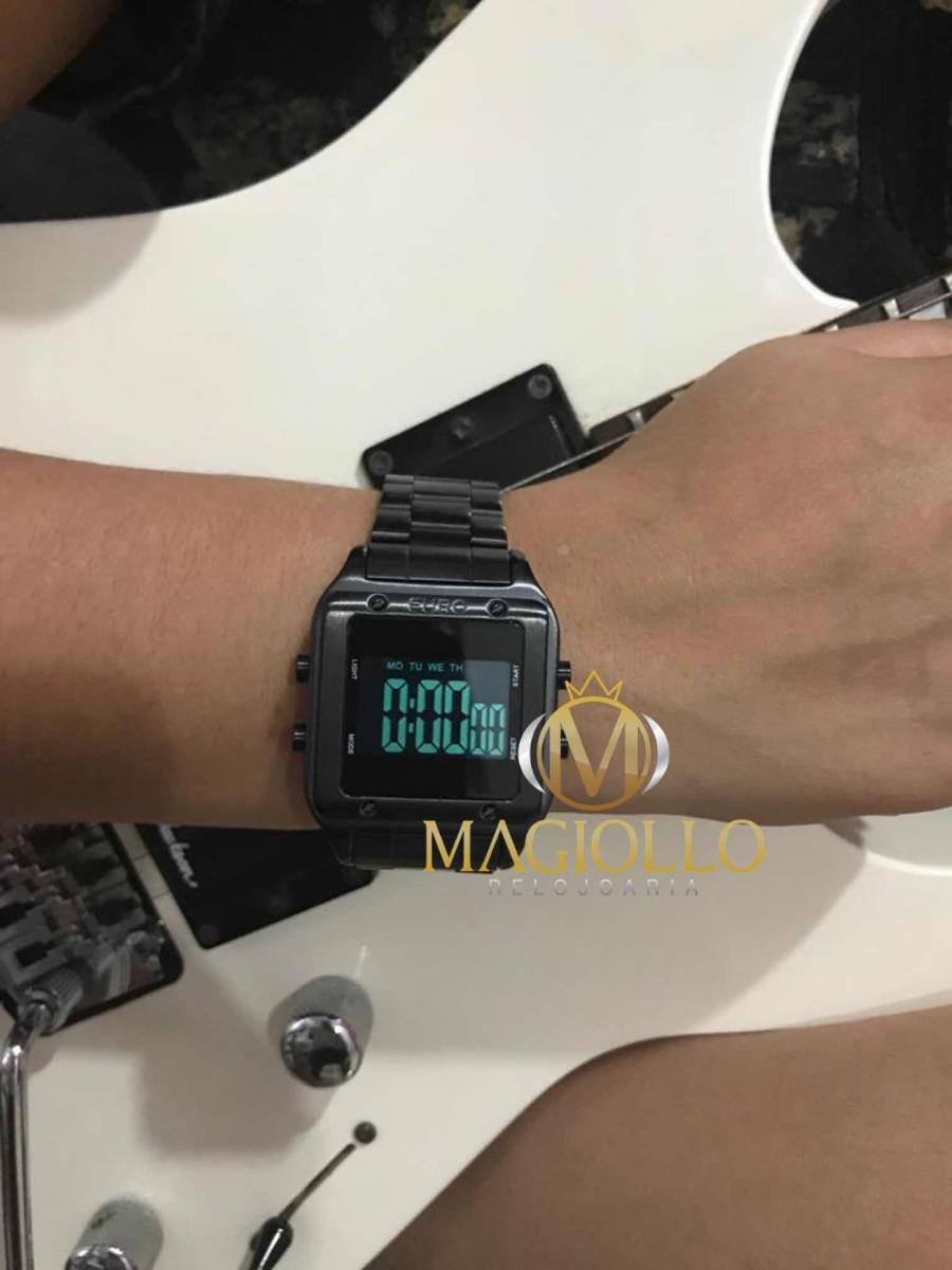 9745c05a495 relógio euro feminino eug2510ac 4p quadrado preto - nf. Carregando zoom.