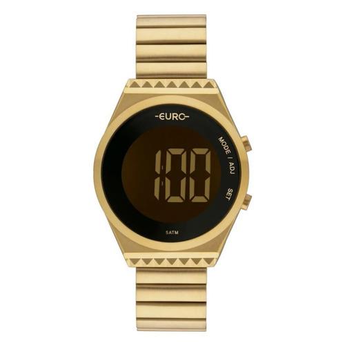 relógio euro feminino fashion fit dourado eubjt016aa/4d