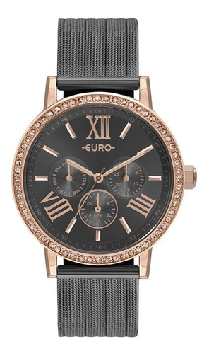 relógio euro feminino multiglow party bicolor eu6p29ahk/5f