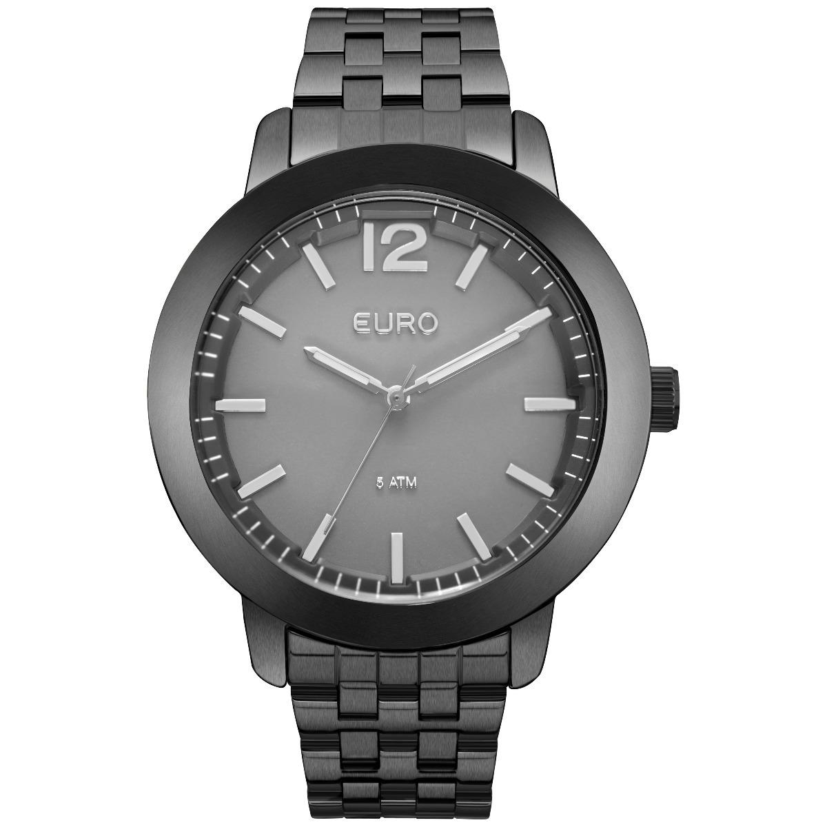 2daf8dfc6a9 relógio euro feminino preto euy121e6dm 4c. Carregando zoom.