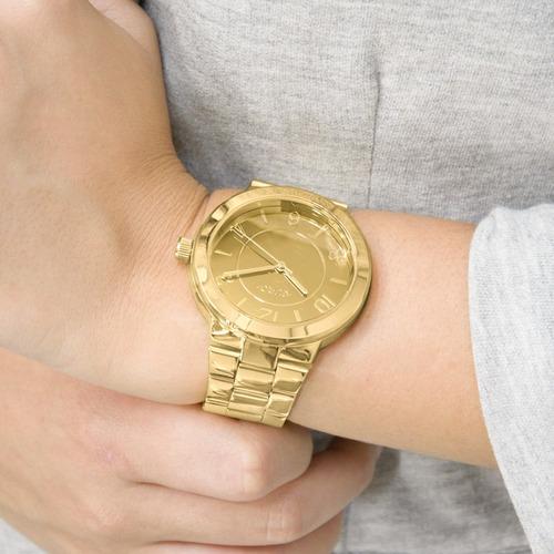 relógio euro feminino trend dourado original eu2036yld/4k