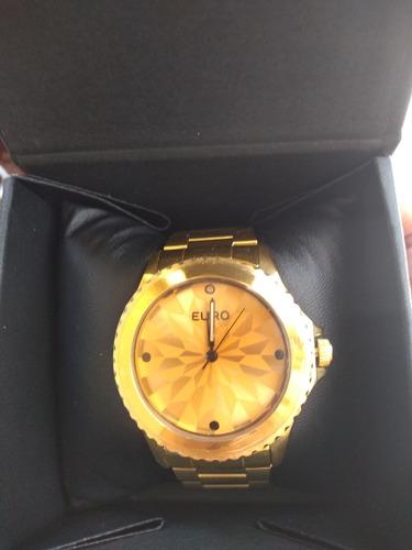 2a1f771f922 Relógio Euro Fumê Dourado - R  269