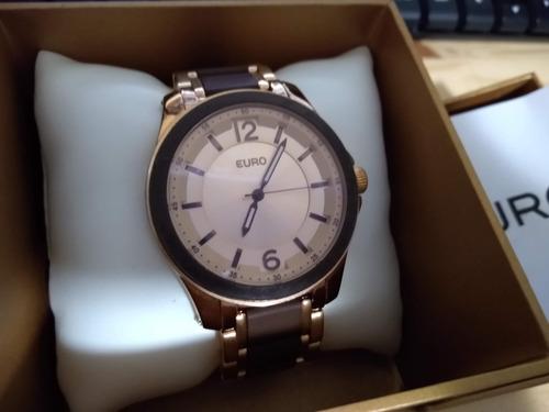 relógio euro kiev - rosê -eu2035fgn