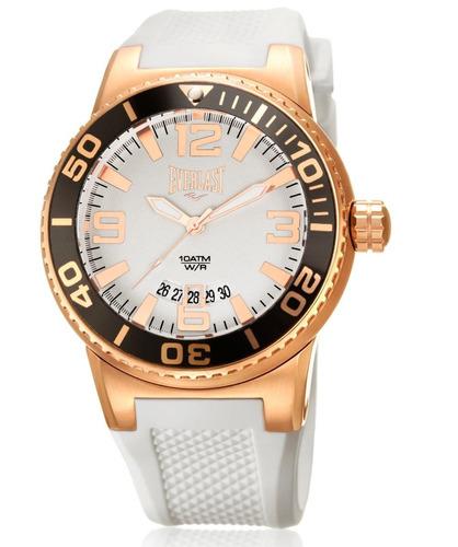 relógio everlast caixa aço e pulseira silicone e579