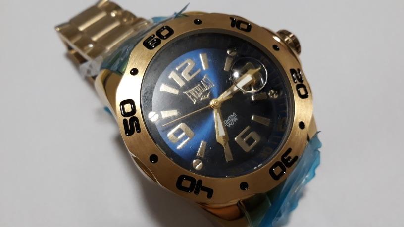 704d20ef90b Relógio Everlast E444 Dourado Gigante - Original - Último - R  300 ...
