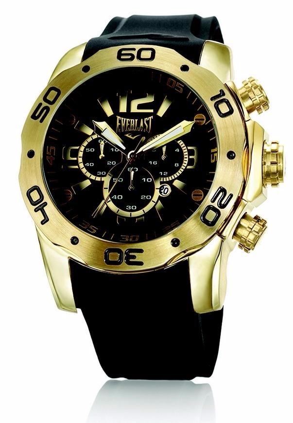 d6e63eaefdb Relógio Everlast Black Gold Masculino Borracha Preto - E547 - R ...