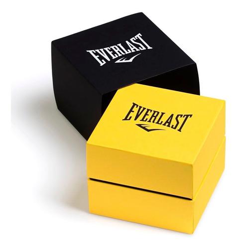 relógio everlast masculino dourado analógico - e629