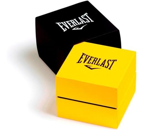 relógio everlast masculino force e619 caixa abs e pulseira s
