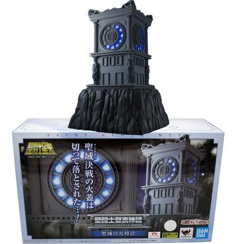 relogio ex c/ caixa parda the fire clock com luzes - bandai