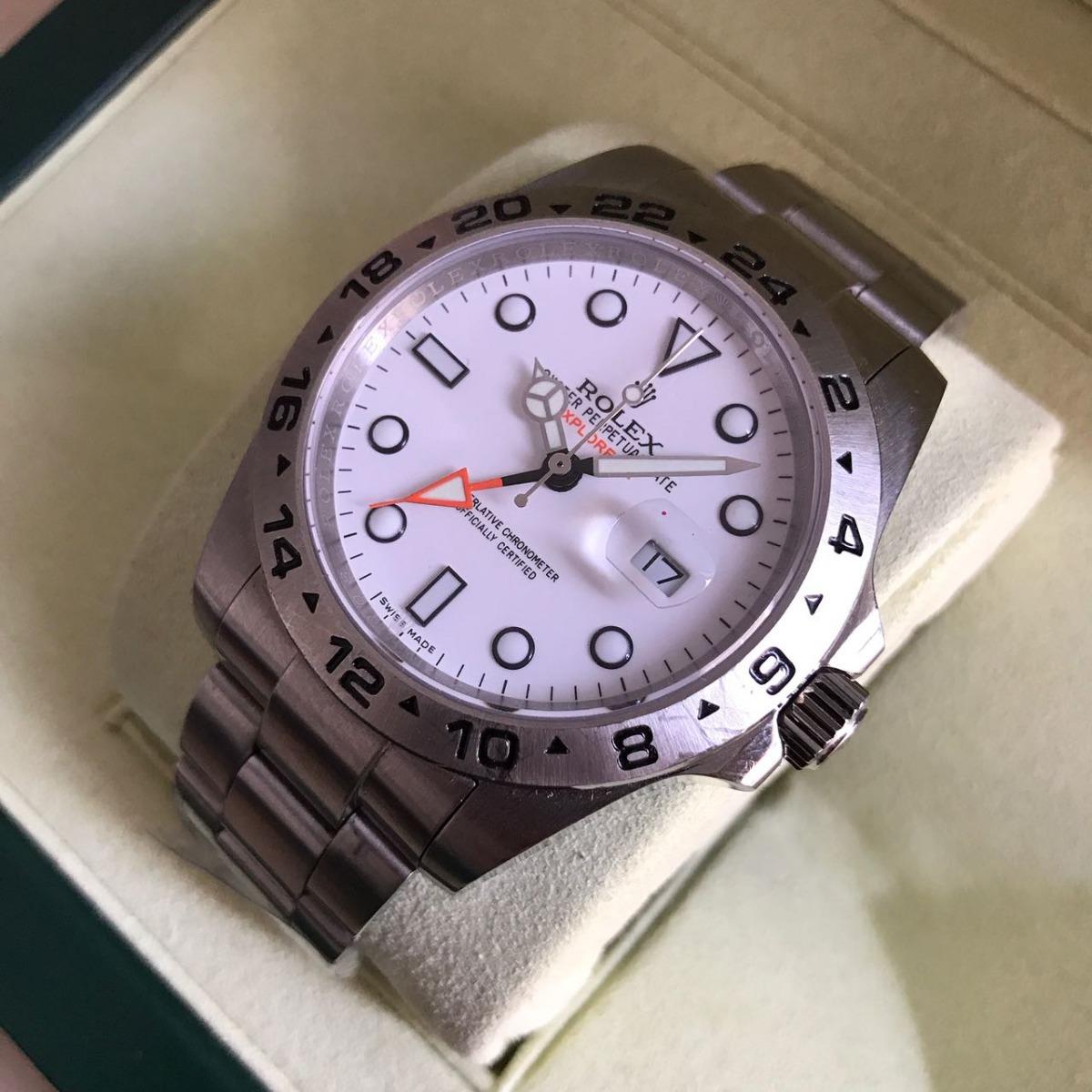 791e7351b83 relógio explorer 2 prata fundo branco aço. Carregando zoom.