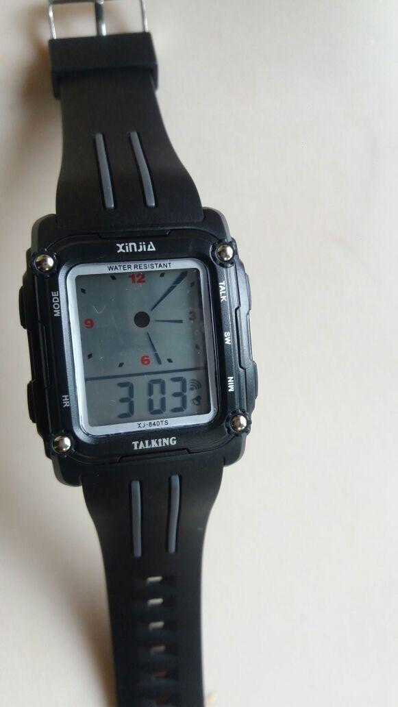4edaacba154 relógio fala espanhol resistente a água para cegos. Carregando zoom.