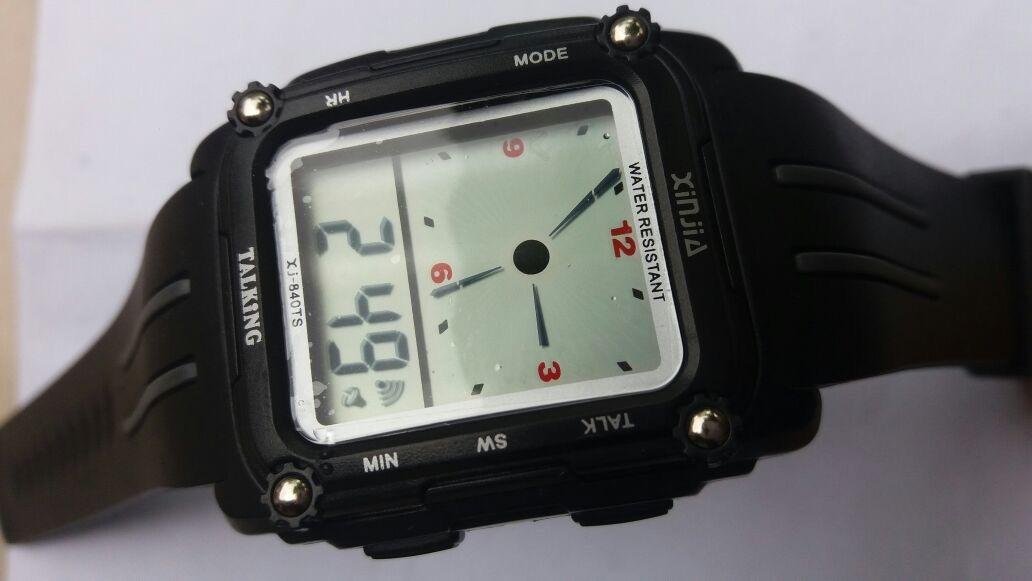 3c7c603f6b7 relógio fala espanhol resistente a água para cegos. Carregando zoom.
