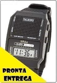relógio fala hora ideal para idoso ou deficiente visual