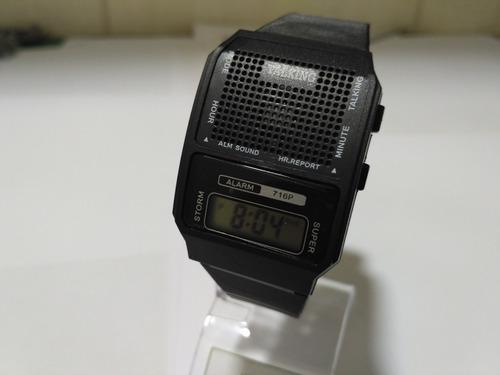 relógio fala hora portugues bom p/ deficiente visual e idoso