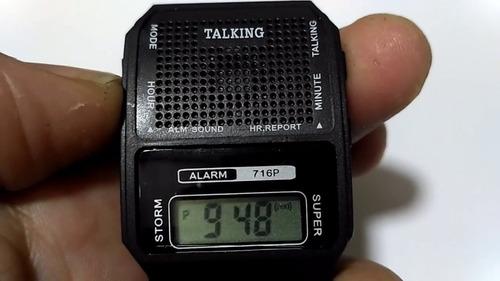 relógio fala hora portugues deficiente visual e idoso top