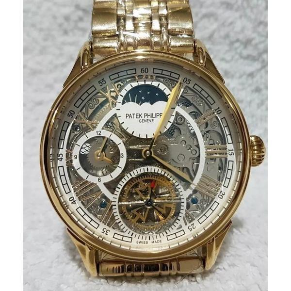 040ab61ee4a Relógio Fases Da Lua Skeleton Dourado Patek Philippe - R  705