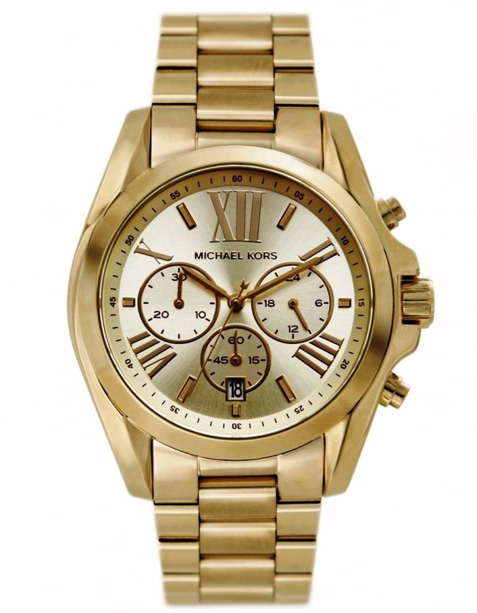 6ff02bb9f6c Relógio Fem Michael Kors Mk5605 Chronograph Dourado Original - R  1.450