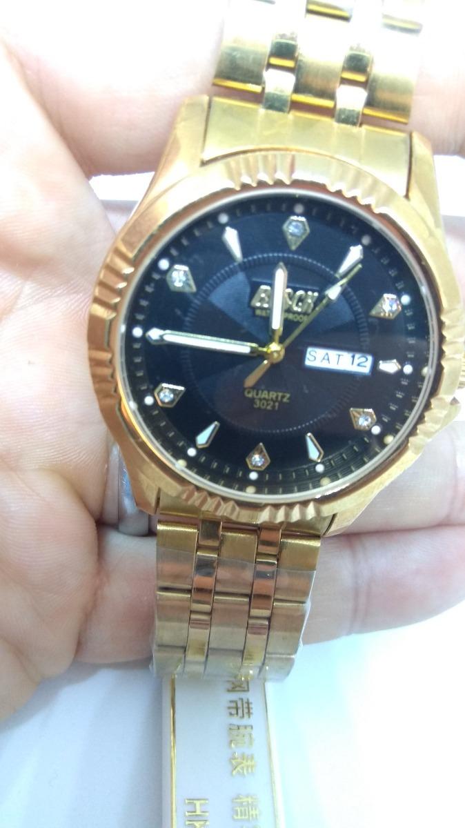 83302d2348d relógio femenino dourado foliado a ouro prova d água. Carregando zoom.