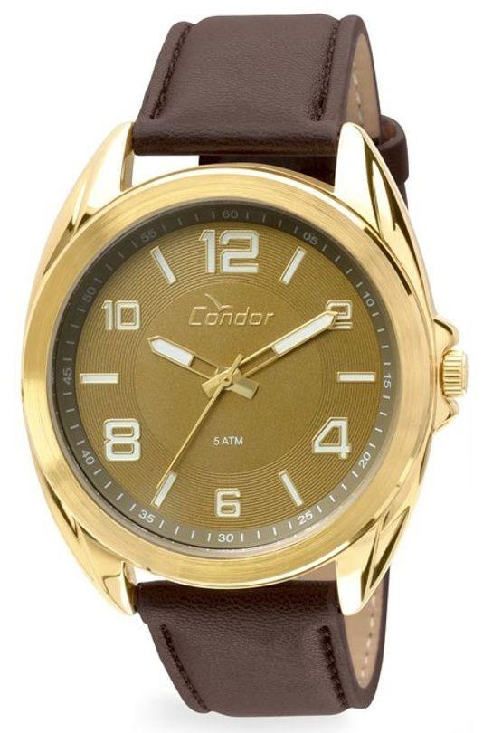 49ccf94992a relógio femini condor co2035klu k4x pulseira de couro marrom. Carregando  zoom.