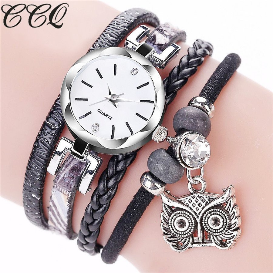cd03b4ca5c6 relógio feminino 2215 coruja strass pulseira bracelete barat. Carregando  zoom.