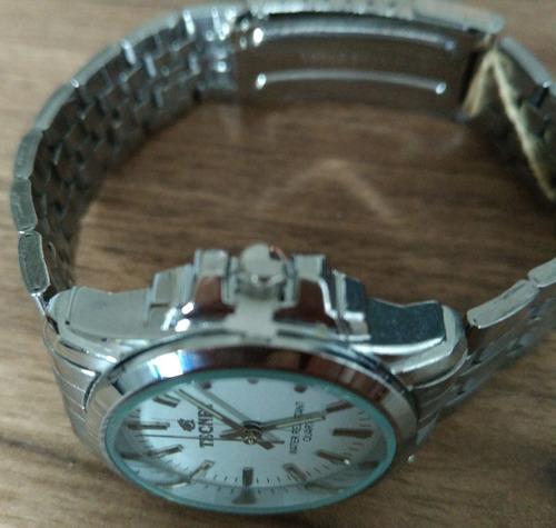 relógio feminino aço caixa pequeno excelente a prova dágua