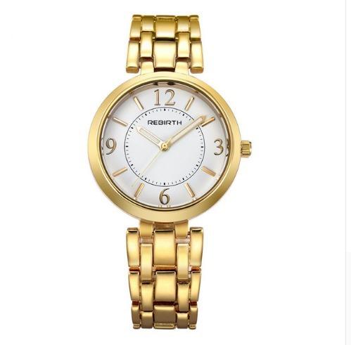 69701a4a107 Relógio Feminino Aço Dourado Barato Prova Dágua Frete Grátis - R ...