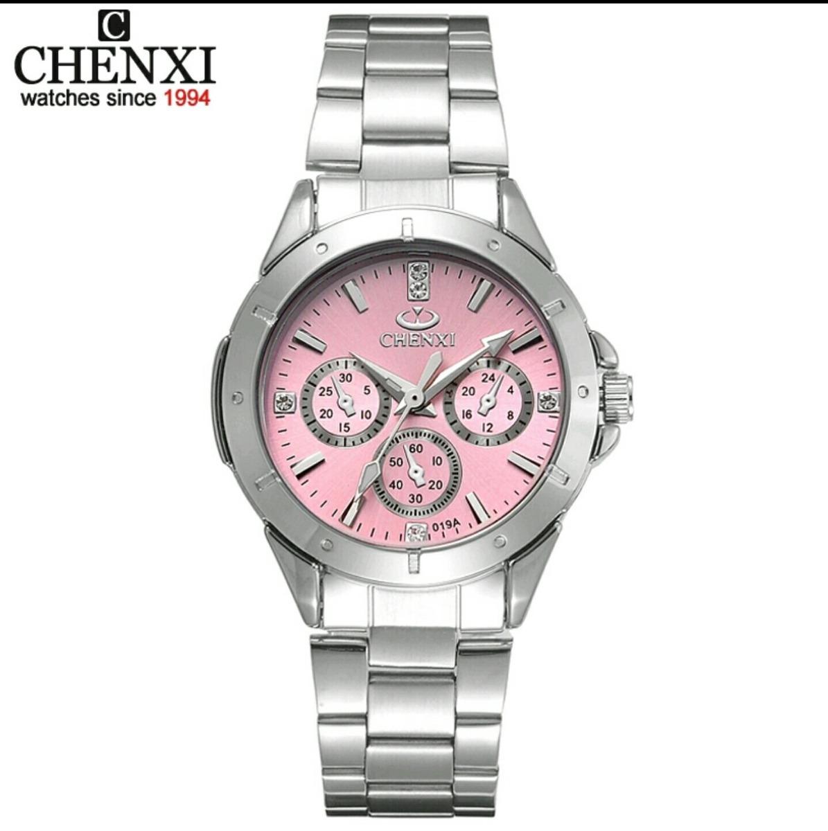 c8df4ab124e relógio feminino aço inox analógico quartzo promoção barato. Carregando zoom .