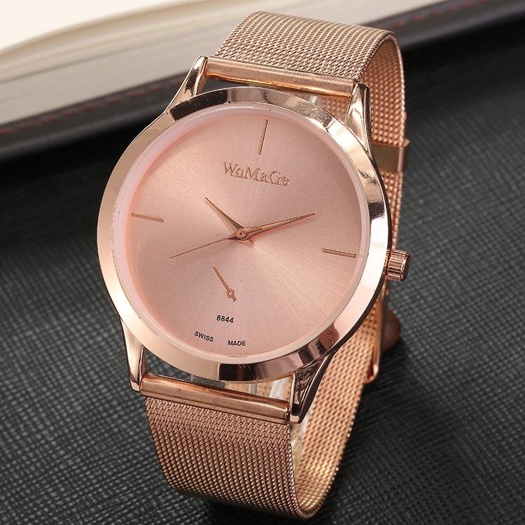 f0dbd577a88 Relógio Feminino Aço Inox Barato Luxo Pronta Entrega Cores - R  59 ...