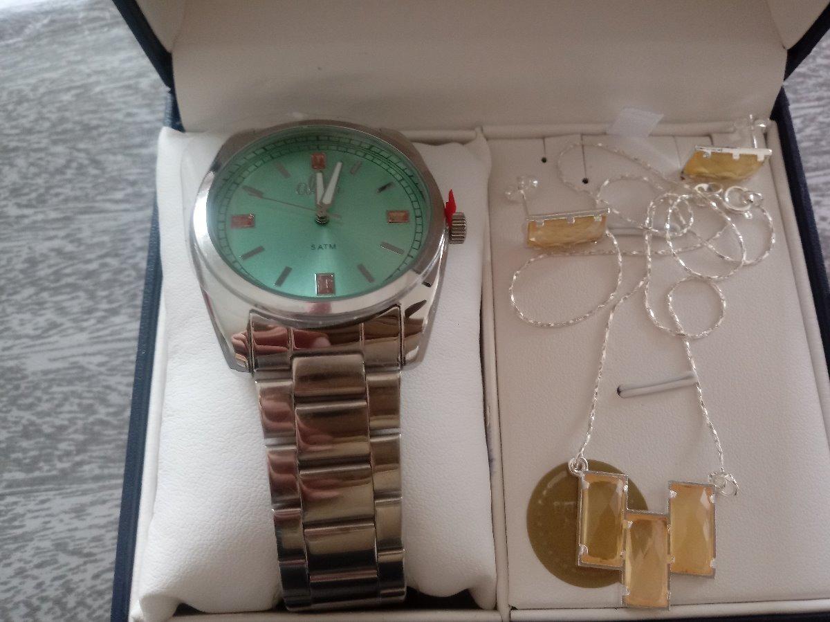 2a924c6ab kit relógio feminino allora al2035f prata pulseira e brincos. Carregando  zoom... relógio feminino allora. Carregando zoom.