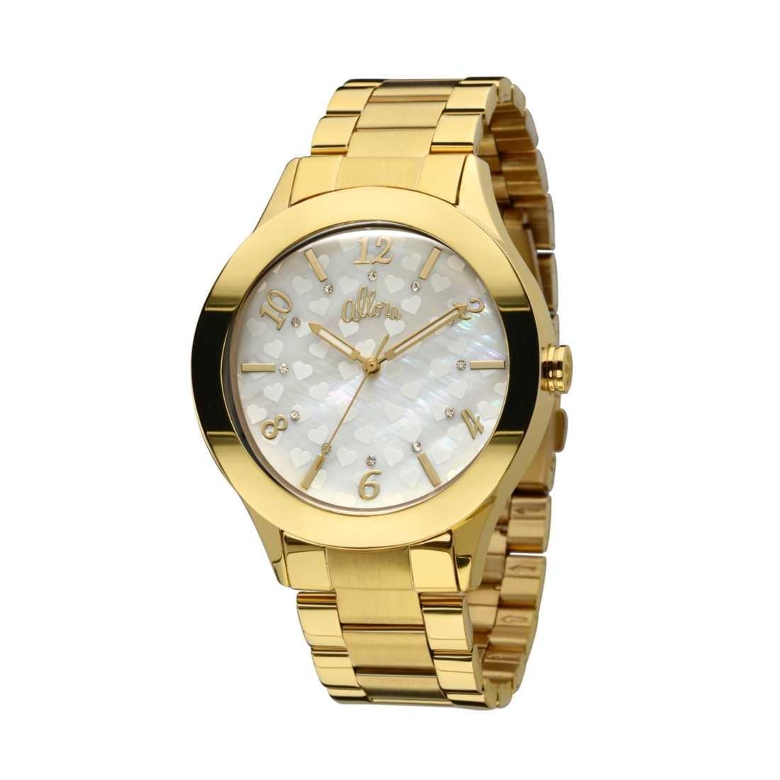 Relógio Feminino Allora Listras E Rendas - Al2035io 4b - R  175,89 ... 5772239924