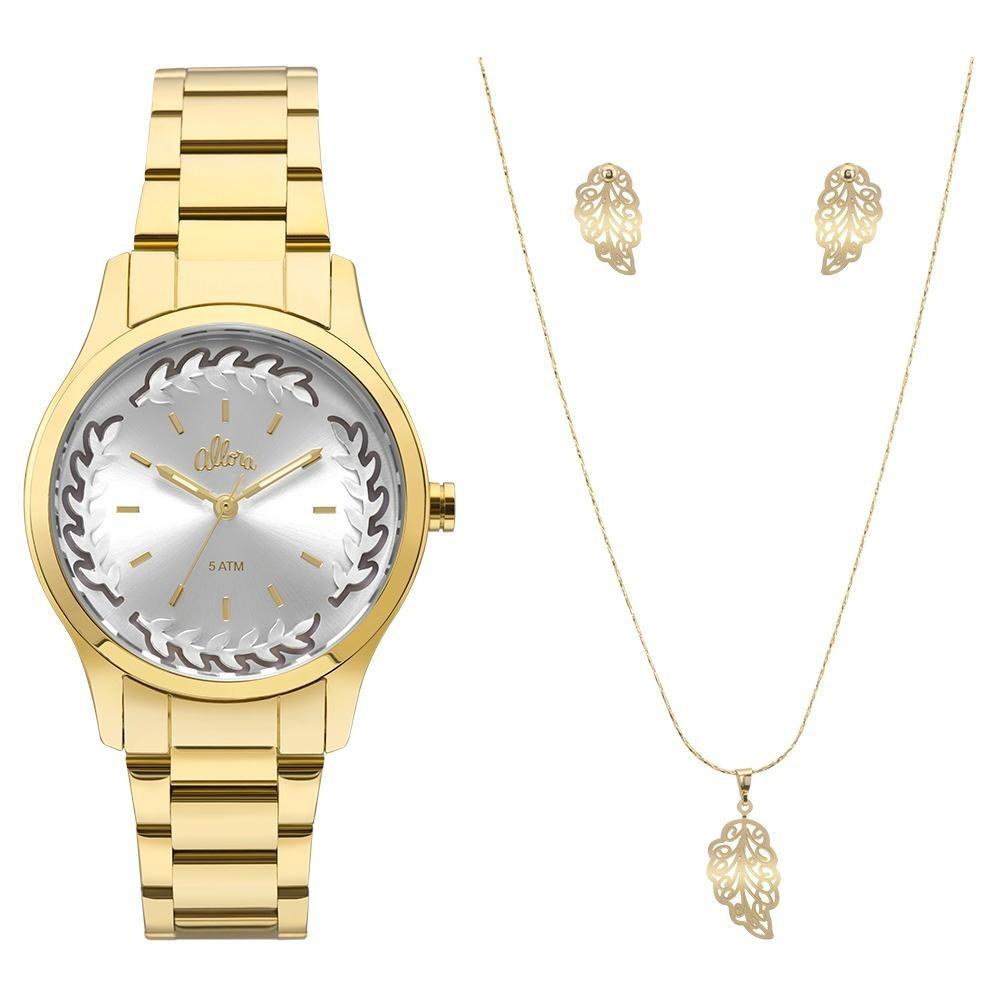 Relógio Feminino Flor Dourado Allora Al2036cn k4c - R  200,00 em ... 0b3872e751