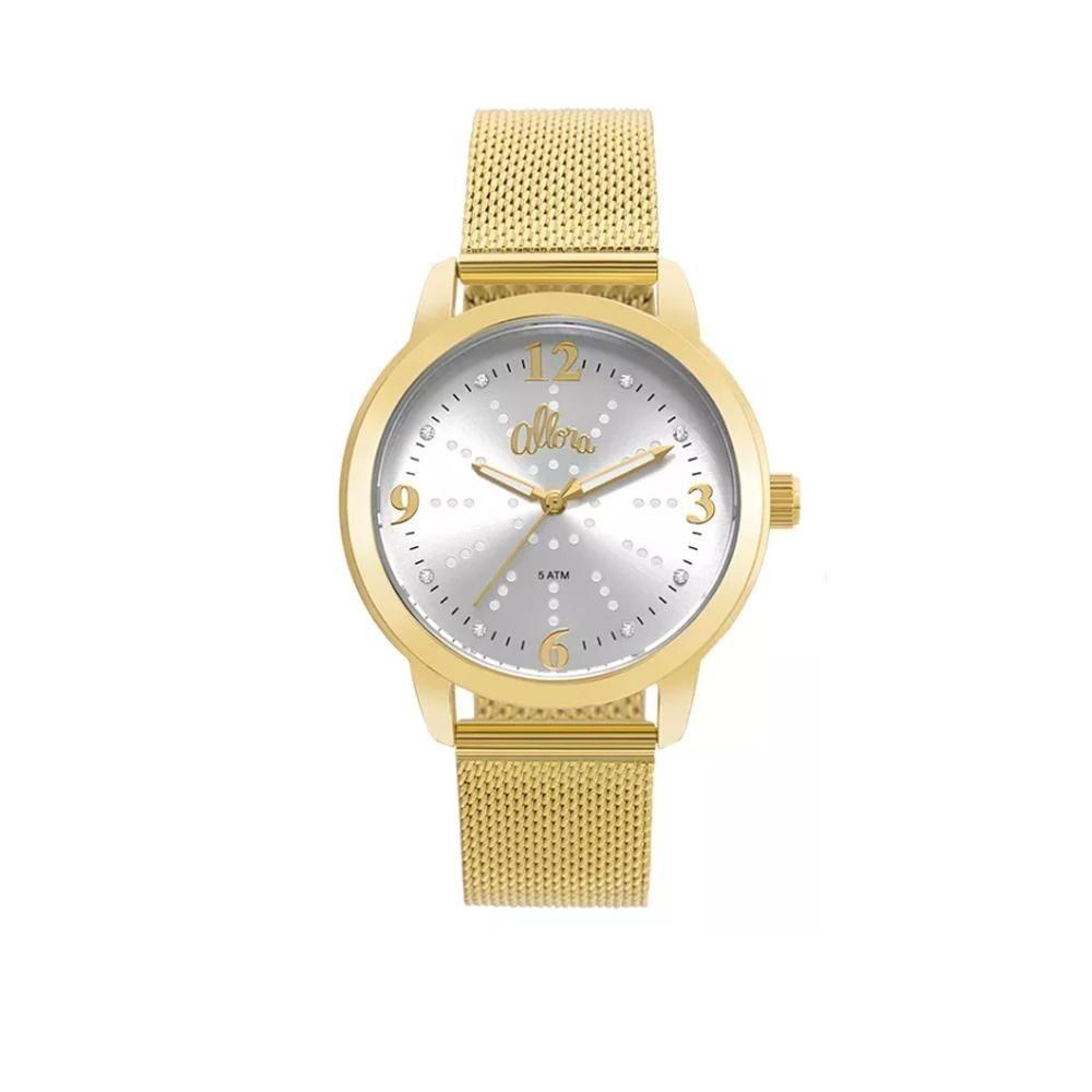 2a8155d222c relógio feminino allora analógico al2035fmg k4k dourado. Carregando zoom.
