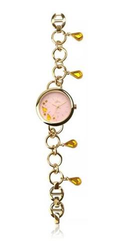relógio feminino allora analógico al2036fgq/4q berloqueira