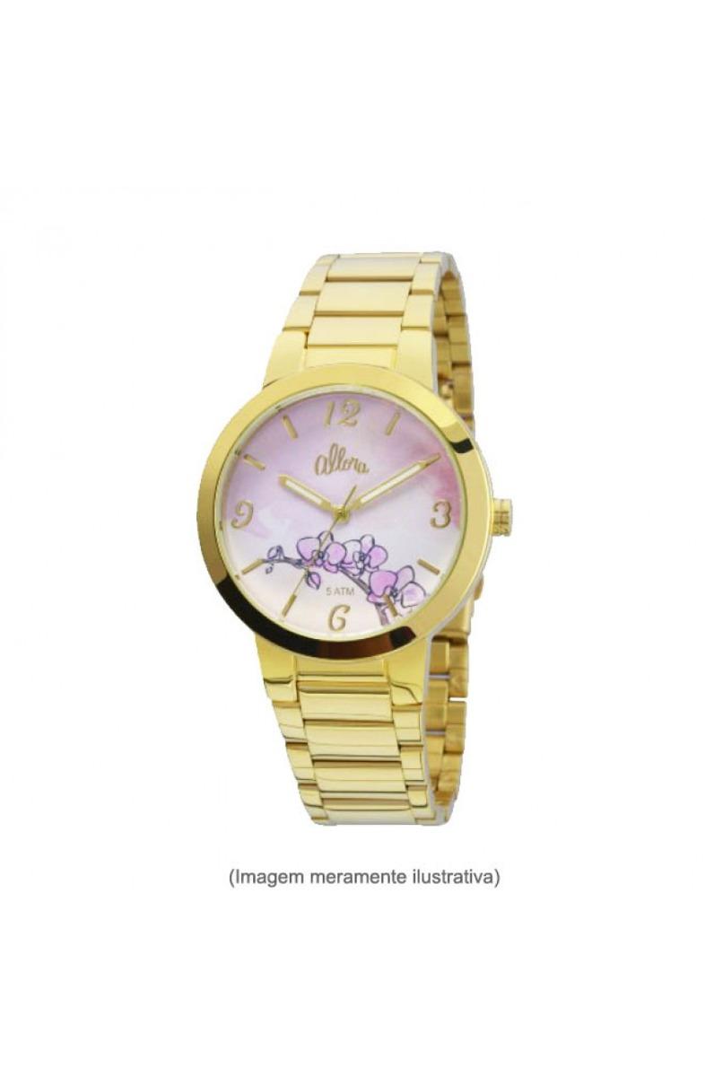 4e1c6736d57 Kit Relógio Feminino Allora Technos + 2 Jóias Banhadas Ouro - R  149 ...