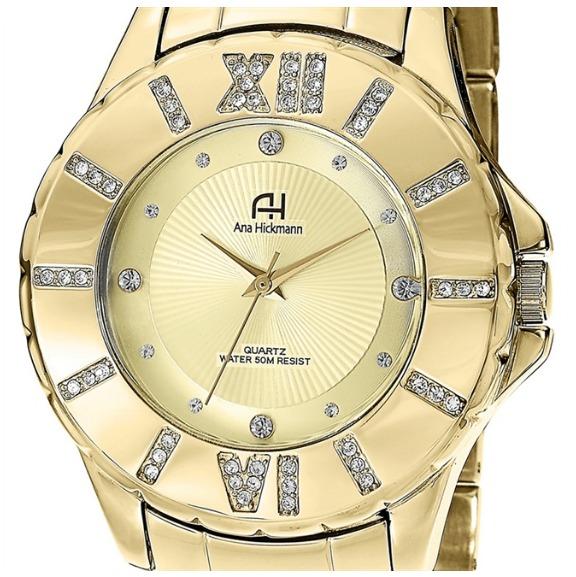 52038adc6b1 relogio feminino ana · feminino ana relogio · relogio feminino ana hickmann  ah28080x dourado moda fashion