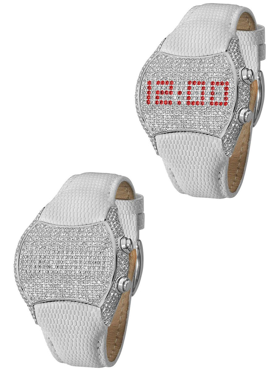 e803c7693ae Relógio Feminino Ana Hickmann Ah48004q Branco - R  954