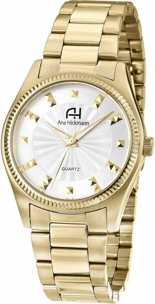 0531d2d64f9 Relógio Feminino Dourado Ana Hickmann Ah29025h - R  405