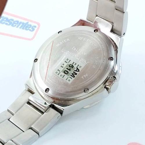 relógio feminino ana hickmann prateado swarovski ah30193q