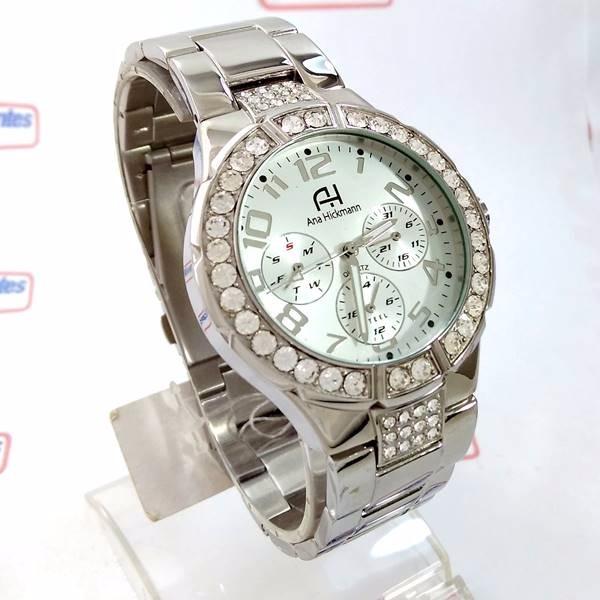 1c925099c07 Relógio Feminino Ana Hickmann Prateado Swarovski Ah30193q - R  659 ...