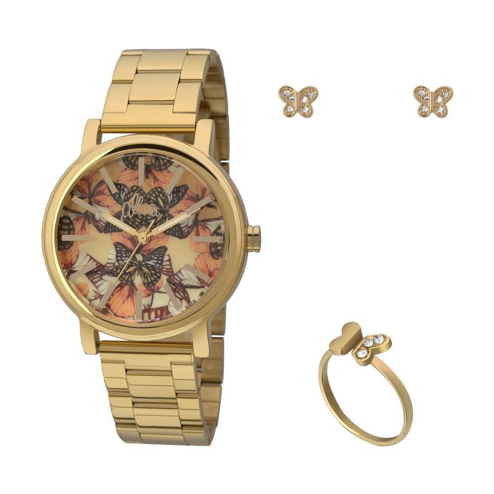 53a310d5514 relógio feminino analógico allora al2036ch k4l - dourado. Carregando zoom.