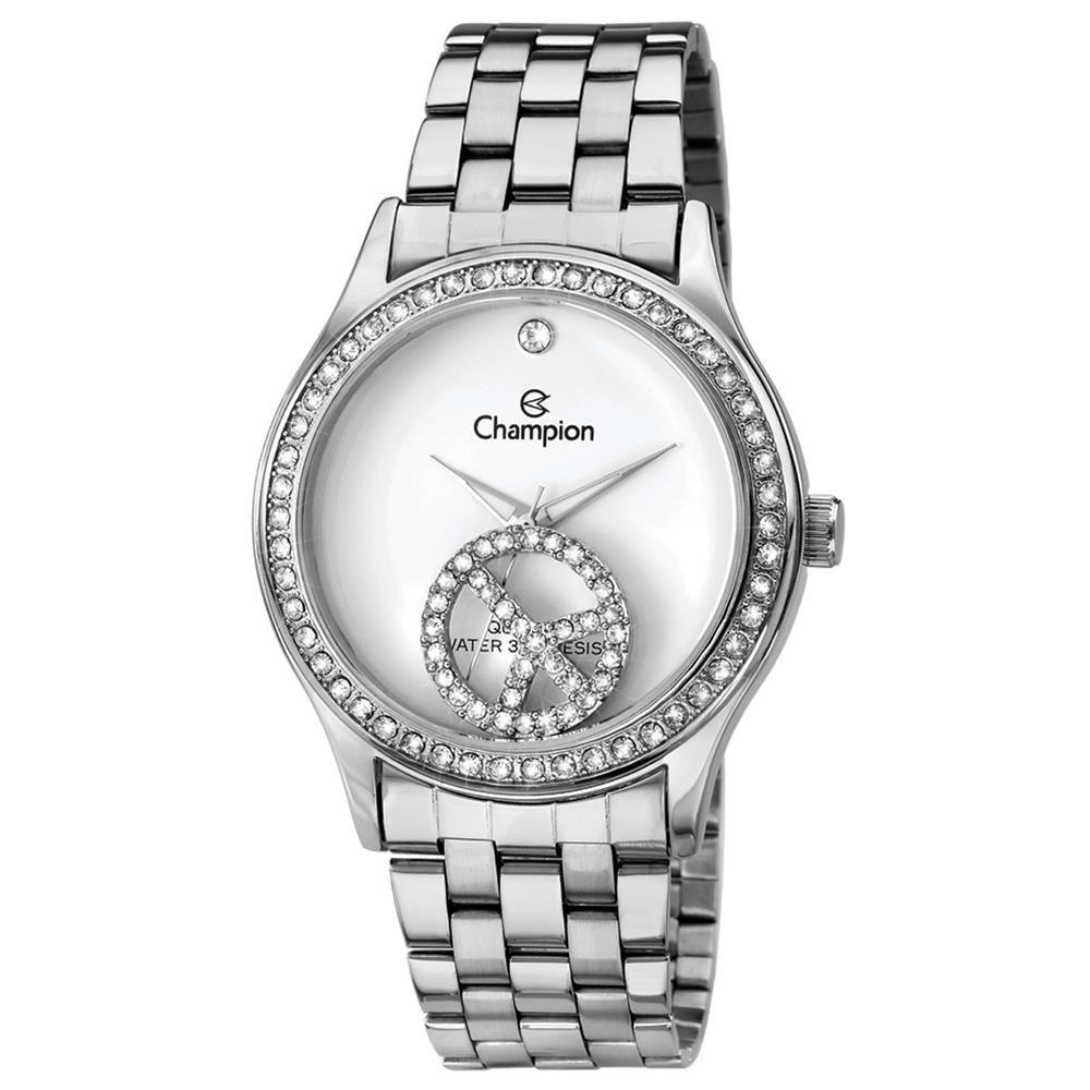 6ee9f50209eaf Relógio Feminino Analógico Champion Ch25785q - Prata branco - R  119 ...