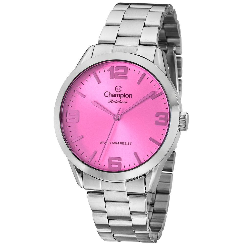 39285b0e093c Relógio Feminino Analógico Champion Rainbow Cn29892h - Prata